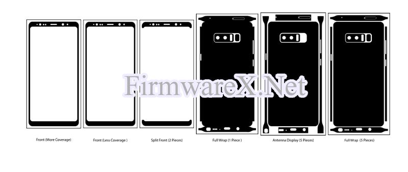 Samsung Note 8 Wrap Skin / PPF Cutting Template (CDR file)