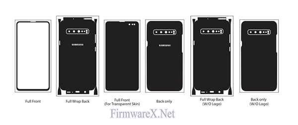 Samsung S10 5G Full Wrap Skin / PPF Cutting Template (CDR File)