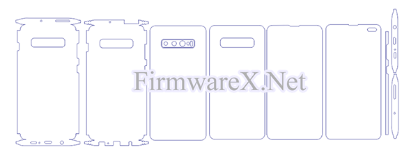 Samsung S10 Plus Full Wrap Skin / PPF Cutting Template (CDR File)