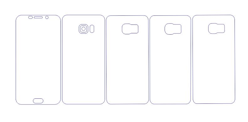 Samsung S6 EDGE Plus Full Wrap Skin / PPF Cutting Template