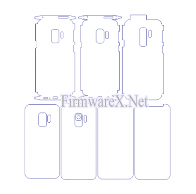 Samsung S9 Full Wrap Skin / PPF Cutting Template (CDR File)