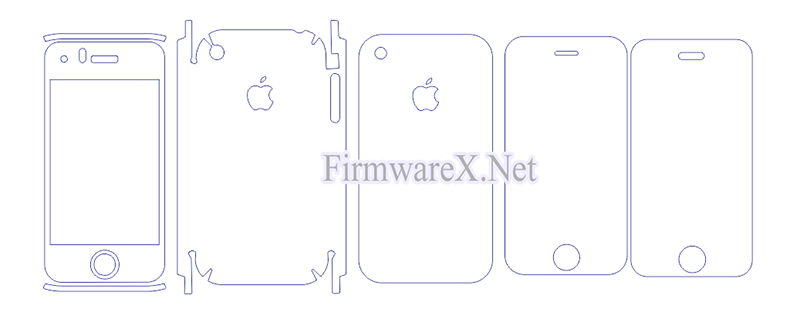 iPhone 3G / 3GS Skin PPF Cutting Template (CDR file)