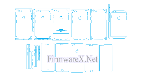 iPhone 6 Plus Skin / PPF Cutting Template (CDR file)