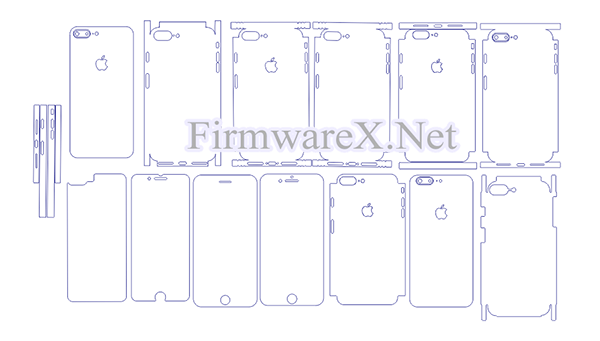 iPhone 8 Plus Wrap Skin / PPF Cutting Template (CDR file)
