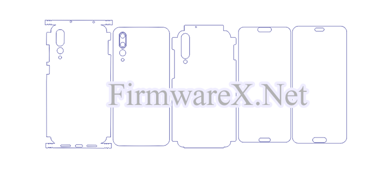 Huawei P20 Pro Full Wrap Skin / PPF Cutting Template (CDR File)