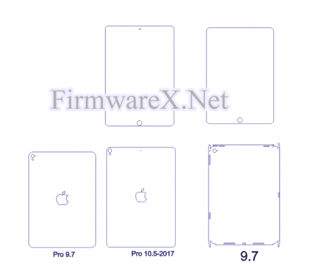 Wrap Full body skin/ PPF cutting template for all Apple iPad